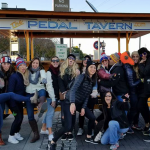 Nashville Pedal Tavern patrons enjoying a winter ride.